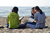 Study on the sand (Roving I) Tags: girls study books groups reading ponytails concentration sand sea surf beaches horizon danang lifestyle vietnam