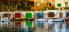 Sleepy harbour (K&S-Fotografie) Tags: sleepy mittag sun sonne hafen dorf village spain spanish harbour boats color wasser