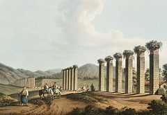 Aqueduct near Ephesus from Views in the Ottoman Dominions, in Europe, in Asia, and some of the Mediterranean islands (1810) illustrated by Luigi Mayer (1755-1803).