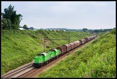 Railtraxx 6482 + 6475 @ Braine le Comte (Steven De Haeck) Tags: brainelecomte hainaut henegouwen belgië belgique railtraxx staaltrein antwerpennoord lalouvière privé privatbahn goederentrein güterzug cargo lijn96 6400 diesel dieselloc