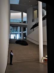 Pinakothek der Moderne (2) (SM Tham) Tags: europe germany munich pinakothekdermoderne artgallery museum building interior architecture stephanbraunfels man attendant guard