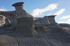 The hoodoos of Badlands (beyondhue) Tags: hoodoo trail badlands alberta beyondhue sand formation park landscape rock fall shape