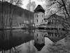 Tristesse (bitstep) Tags: sw blackwhite bw monochrom monochrome lenne river fluss obergraben wilhelmsthal höllmecke fabrik lostplace abandoned factory