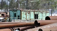 Indiana, Pennsylvania (2 of 4) (Bob McGilvray Jr.) Tags: indiana pennsylvania caboose steel transfer green scrap scrapyard metal railroad train tracks ple pittsburghlakeerie