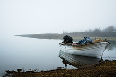 boat in a misty lake.. (ckollias) Tags: mistylake beautyinnature boat day fog lake mistylandscape mistymorning modeoftransport moored nature nauticalvessel nopeople outdoors sky transportation water