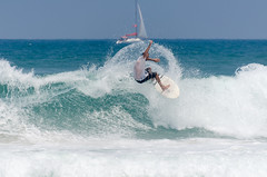 _DSC0202 (Yishai Halutz Photography) Tags: sea sports sport surfing surfer surf surfers sky sun surfboard sand surfergirl israel air waves wave carve water beach ocean extreme people