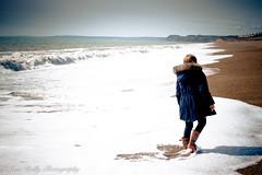 Cogden Beach Stroll (broadswordcallingdannyboy) Tags: dorset cogdenbeach beach sea seascape waves fun holiday springsun jurassiccoast eos7d 1740mm canonl leonreillyphotography england southcoast donotcopy stroll eosdigital westcountry flickr seaside