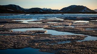 Ice in an Ephemeral Lake