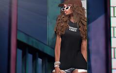 5.0 (Carley Benazzi) Tags: mb~maibilavio homage hair model mesh makeup rossi gacha kustom9 glasses shadows skin shades accessories jewelry events ebony chic urban access