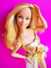 1980 Golden Dream Barbie Doll #1874 (The Barbie Room) Tags: 1980 golden dream barbie doll 1874 1980s 80s gold superstar blonde blond copper rose glitter glam glamour