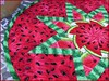 828_Watermelon Table Topper_e (QuiltinWaYnE) Tags: quilted handmade kitchentabledecor diningtabledecor coffeetabledecor tablemat tabletopper tabledecor quiltedtabletopper quiltsy etsyseller etsyquilter etsy etsyshop etsyhandmade qqqetsy quiltedtabledecor tablelinen handmadequilt tablequilt watermelon