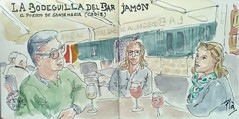 La Bodeguilla (Fotero) Tags: cadiz viaje andalucia tapas bar terraza vino usk urbansketch urbansketcher urbansketching acuarela watercolor dibujo cuaderno cuaderno15 sketchbook