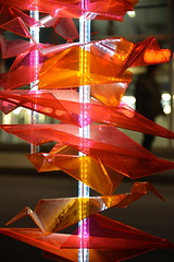 Bianka Marchand, Chloé P. Bourgie et Josianne Pinard (étudiants en design de présentation du cégep du Vieux-Montréal), Vague espiègle, 2018 (art_inthecity) Tags: lightinstallation installationlumineuse color couleurs night nuit placedesarts nuitblanche illuminart québec quebec montréal montreal vague wave