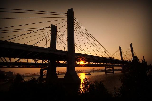 Abraham Lincoln Bridge near Sunset