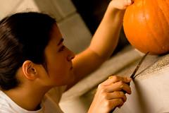 PumpkinParty.017.jpg (Jeremy Caney) Tags: jackolanterns pumpkincarving houseparties pentagram parties halloween pumpkins melissa