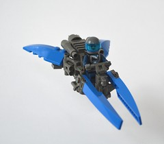 Ice Planet Speeder (Guido Martin-Brandis) Tags: lego ice planet speeder space speedbike speederbike hover hoverbike spaceship hoverscooter commander cold bear
