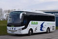 YD66AXX  K&B Travel, Penrith (highlandreiver) Tags: yd66axx yd66 axx kb travel penrith cumbria yutong bus coach coaches brunton park carlisle