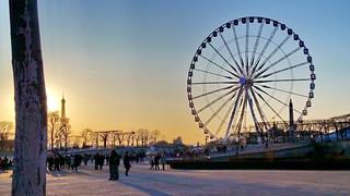 572 Paris en Février 2018 - les Tuileries et la Grande Roue de la Place de la Concorde