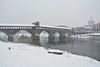 Pavia. (sinetempore) Tags: pavia pontecoperto neve snow inverno winter freddo cold paesaggio landscape barca boat fiumer river ticino duomo di duomodipavia