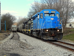 Indiana Northeastern grain train at Helmer Indiana (Matt Ditton) Tags: indiana northeastern iner train helmer shortline outdoors