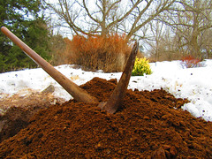 IMG_3046 4-13-2018 (PGK88) Tags: outdoors snow dirt landscape tool soil pickaxe work digging 2018 365 pgk88 winter object