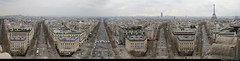 Panoramic view from Arc de Triomphe, Paris, France (JH_1982) Tags: panoramic view panorama city urban urbanity aussicht observation deck observatory arc de triomphe l'étoile triumphal arch star triumphbogen des sterns arco triunfo 巴黎凯旋门 エトワール凱旋門 에투알 개선문 триумфальная арка قوس النصر famous monument historic architecture landmark building napoleonic wars neoclassicism paris parís parigi 巴黎 パリ 파리 париж باريس france frankreich francia frança 法国 フランス 프랑스 франция فرنسا