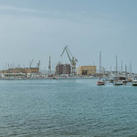 The boat dock near the old town of Trogir, Croatia thumbnail
