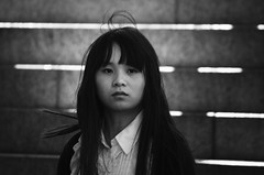 _-< (dagomir.oniwenko1) Tags: asian face female street style canon candid canoneos60d blackandwhite bw mono girl woman life london england eyes ritratto retrato portrait person portret people portraits humans asia