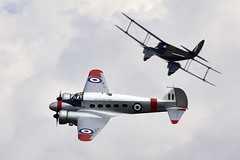 Anson & Rapide (Bernie Condon) Tags: uk british shuttleworth collection oldwarden airfield airshow display aviation aircraft plane flying navyday june june2018 avro anson trainer passenger airliner transport military civil vintage preserved classic dehavilland dh dragonrapide cargo biplane 1930s raf