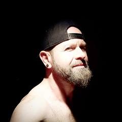 Just me (janrohan2001) Tags: male man cap hat backwards snapback earring stud hunk dude bear beard bearded guy