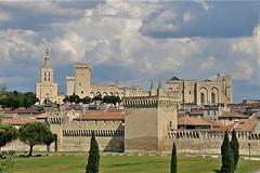 Notre-Dame des Doms et Palais des Papes - Avignon (hervétherry) Tags: france provencealpescôtedazur vaucluse avignon canon eos 7d efs 18200 palais papes cathedrale notredame doms monument historique