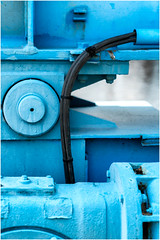 Shades of Blue & Turquoise (devos.ch312) Tags: boatdetails blue turquoise lines shapes sony a7rii ilce7rm2 zeiss fe2470mmf4zaoss paint painted simplicity textures christinedevos