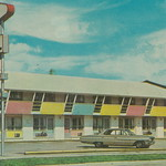 1960s MID CENTURY MODERN MOTEL ERA FUN at The Safari Motel in Milwaukee WI Great Colors and Design with two things you don see much any more A TELEPHONE BOOTH and a USPS Mail Box3 thumbnail