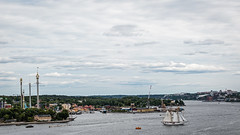 I see a ship (PhredKH) Tags: 70200mm buildings canoneos7dmkii canonphotography cityofstockholm cityscene citysnap cityscape ef70200mmf28lisiiusm fredkh iconic photosbyphredkh phredkh splendid stockholm sweden trees urban boats ocean people picturesque scenic scenicwater seabay sky stuffonwater water