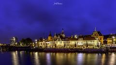 Lights on (iosif.michael) Tags: sony a7 lights night nightphotography longexposure city urban canal water sky bluehour amsterdam netherlans