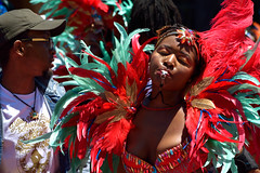 Carnaval Parade SF 180 (TheseusPhoto) Tags: colors costume parade carnaval carnaval2018 carnavalsf people candid streetphotography street celebration colorsoftheworld feathers whistle face
