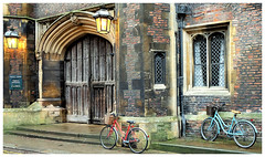 Queens' College (Cambridge) (mibric) Tags: cambridge rue street vélo bike cycle england angleterre united kingdom queenscollege college
