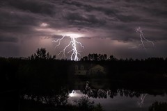 Power of Nature (Terry L Richmond) Tags: canon6d strikes alberta canada weather severe intense lightning storm