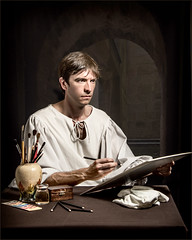 The Artist (Repp1) Tags: hastings richard younmanseries portrait painting painter sketcher caravaggio lighting