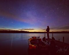 One Last Cast (Justin Loyd Photography) Tags: june water lake night longexposure eastcrookedlake minnesota 5dmarkiv canon colors sky stars dock fishing northcountry