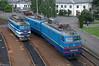 UZ CH2-814 and VL10-1489, Lviv-zakhid,2018/05/24. (lg-trains) Tags: ukraine ukrainian railways trains trainspotting transport chs2 vl10