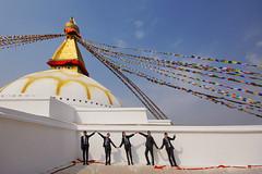 fun at Bodnath (trying to catch up again !!!) Tags: bodnath kathmandu kids schoolkids schooluniform travel fun temple stupa unescoworldheritagesite kathmanduvalley ivodedecker nepal nepali nepaligirl