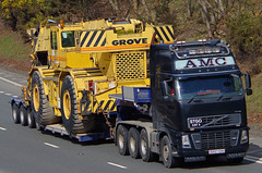 VOLVO FH16 - AMC Heavy Haulage Bewdley Worcs. (scotrailm 63A) Tags: lorries trucks
