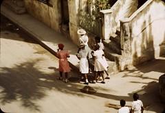 Street scene, Christiansted, St. Croix island, Virgin Islands, 1942. (polkbritton) Tags: jackdelano 1940s virginislandshistory vintagefashion fsaowi libraryofcongresscollections