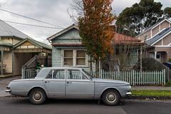 Kingsville (Westographer) Tags: kingsville melbourne australia westernsuburbs suburbia parked valiant house home streetscape weathered winterlight