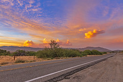 On A Colorful Desert Highway... (slworking2) Tags: julian california unitedstates us road street highway 78 hwy highway78 anzaborrego anzaborregodesertstatepark desert sky clouds sunset
