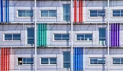 Colored building (Cor Oosterbeek) Tags: colored colorful kleuren gebouw building almere kantoor architectuur architecture