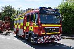 Lincolnshire - WX14XJE - Binbrook - WrL/R - EC05P1 (matthewleggott) Tags: lincolnshire fire rescue service engine appliance binbrook wx14xje man jdc john dennis