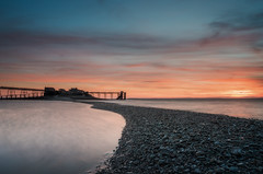 Sunset at the gravel bar (Chris Sweet Photography) Tags: pier birnbeck seascape landscape sunset goldenhour pastel ocean coastal coast le longexposure victorianstructure oldbuilding derelict nikon nisi nisifilters