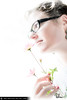 questions and answers (Mathieu Muller) Tags: portrait femme fille girl woman charme charm glamour glamorous focus dof flou blur blurry lunettes glasses fleur flower contrejour backlight wwwmathieumullercom highkey depthoffield mathieumuller